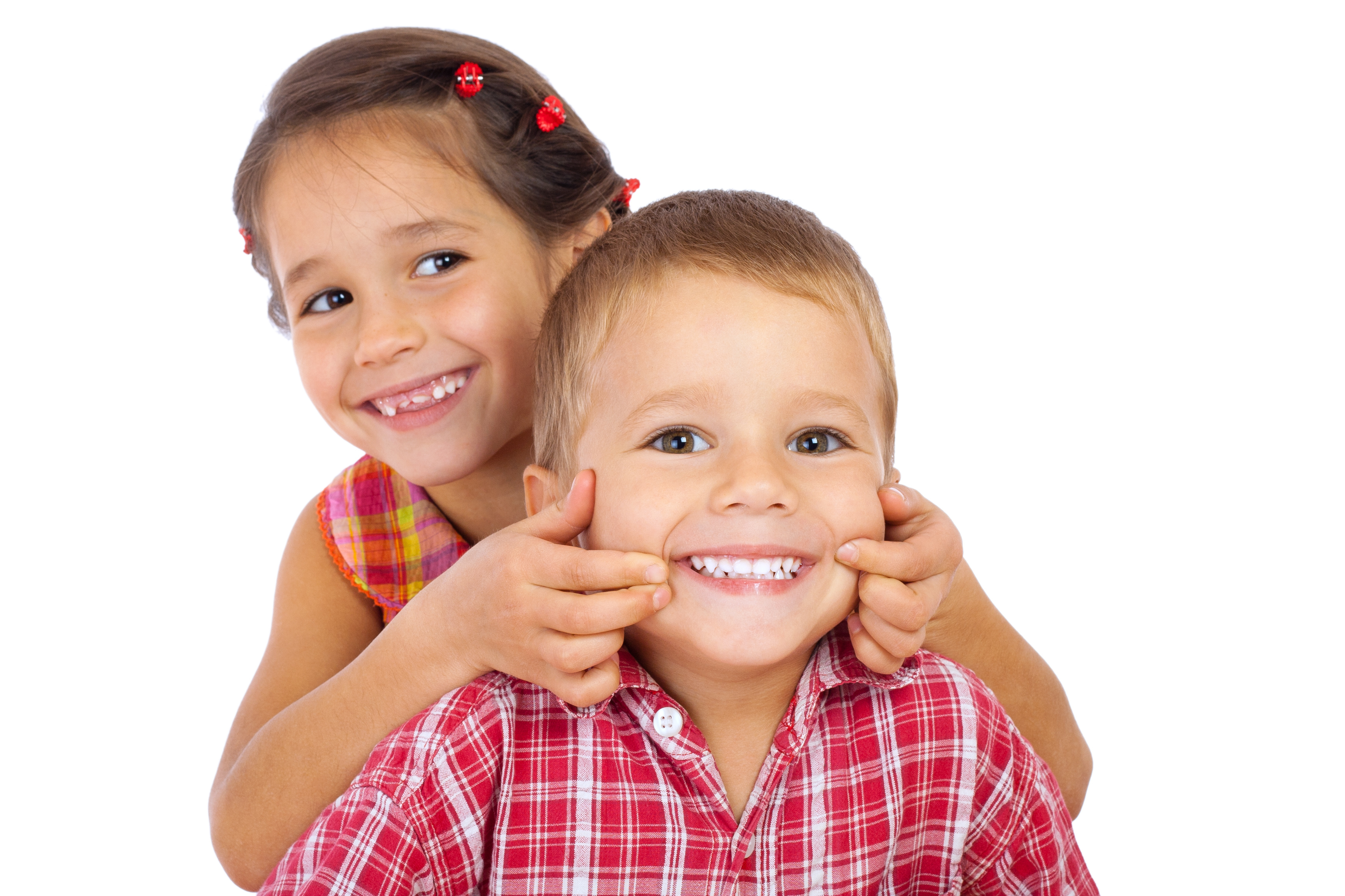Children with healthy smiles