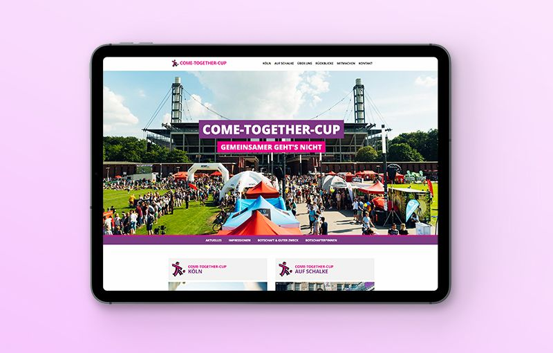 Webseite - COME-TOGETHER-CUP