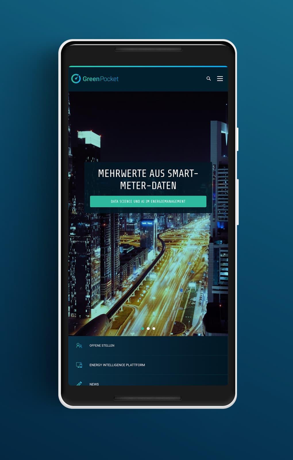 Website Startseite Mobile - GreenPocket