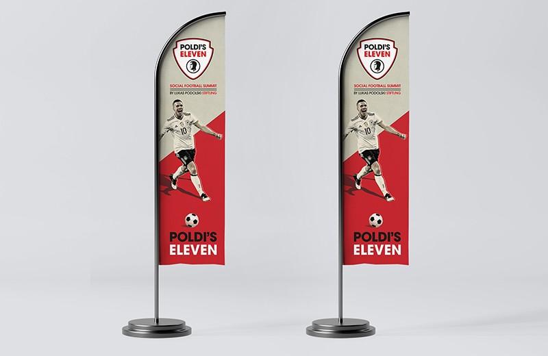 Beachflag Poldi's Eleven