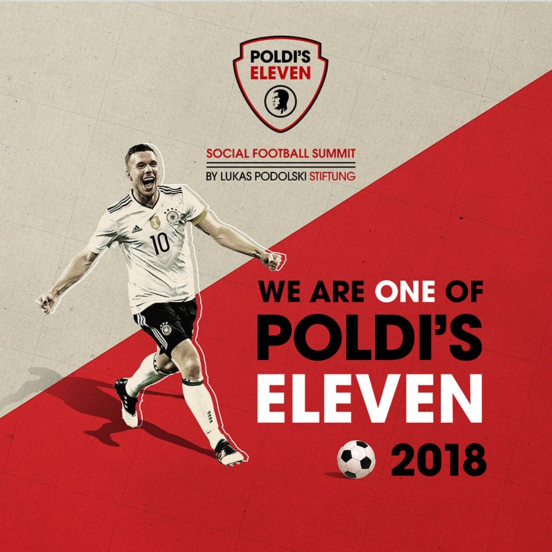 Social Media Post We are one of Poldi's Eleven