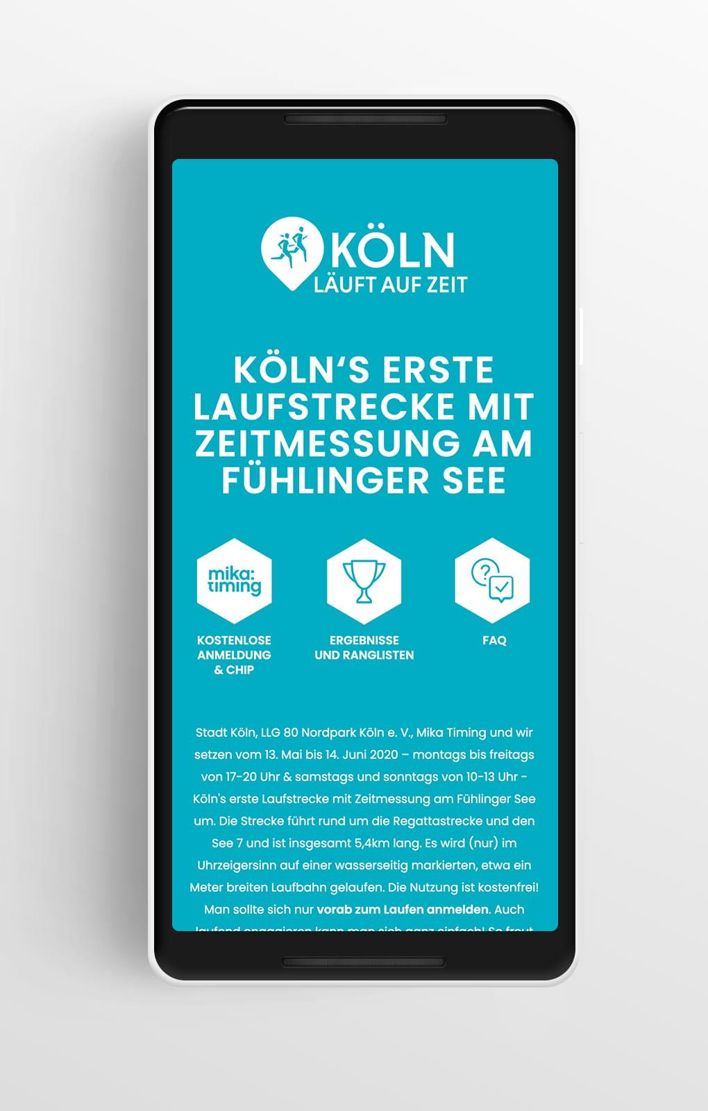 Startseite Mobile - Fit-Köln