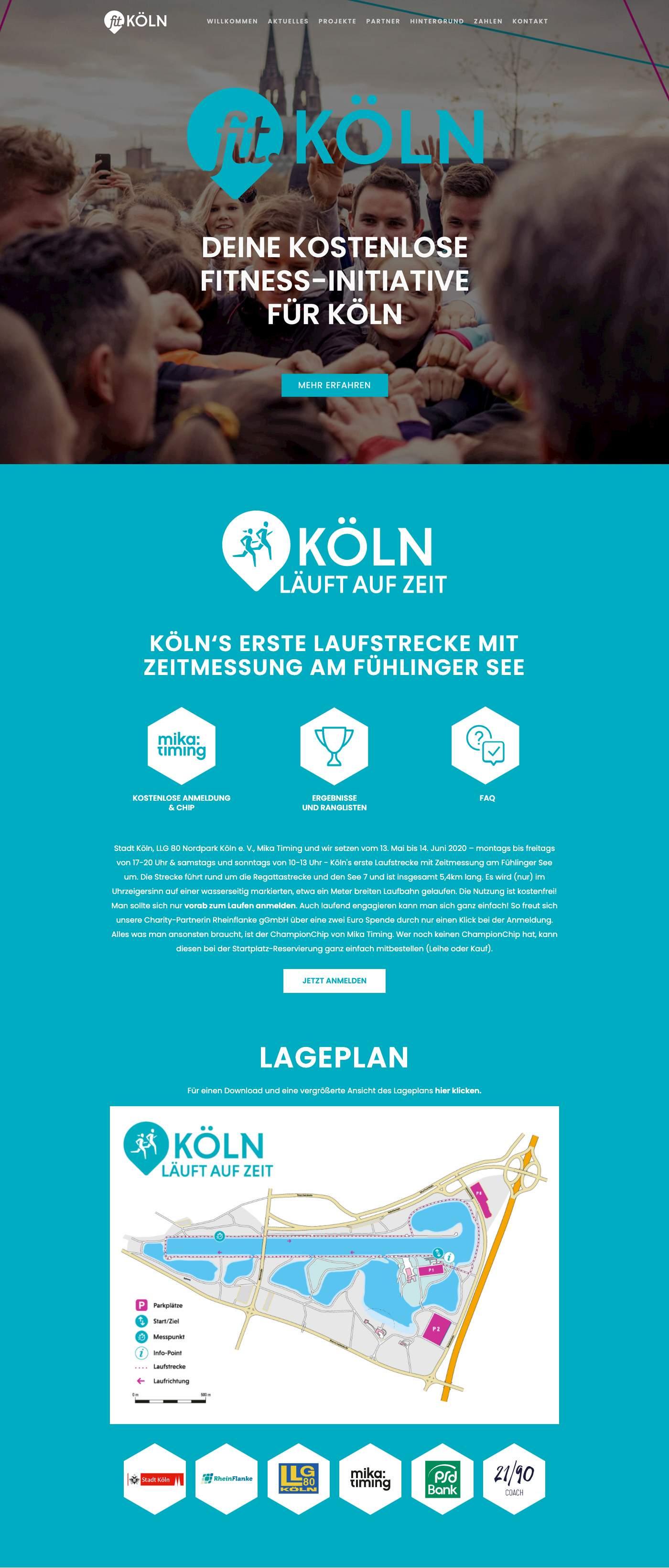 Website Relaunch - Fit-Köln