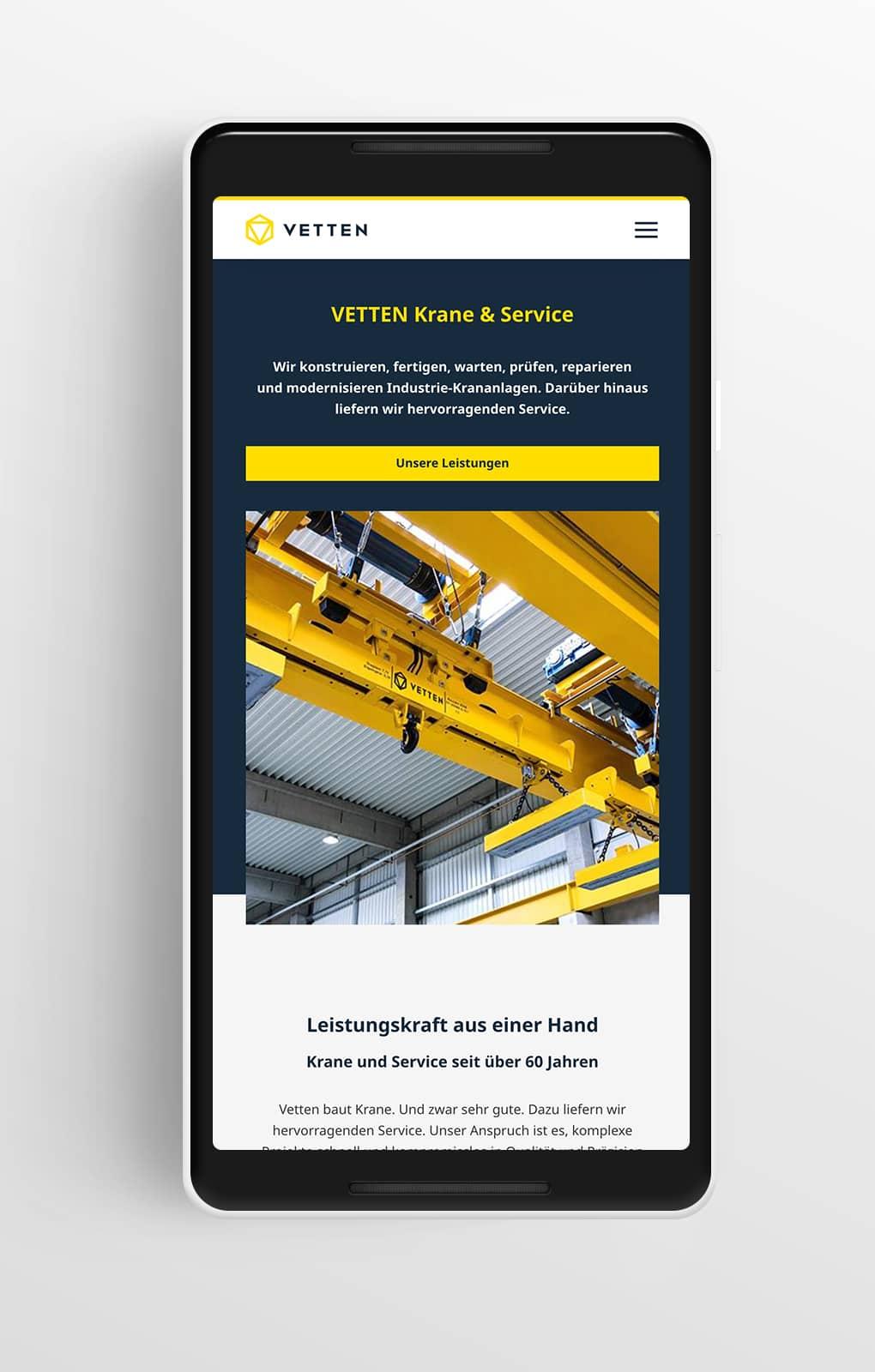 Startseite Mobile - VETTEN