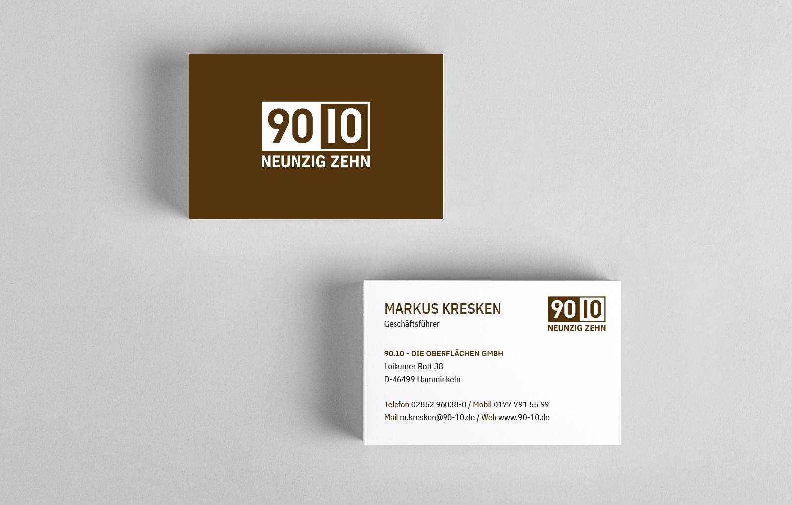 Visitenkarte - 90.10