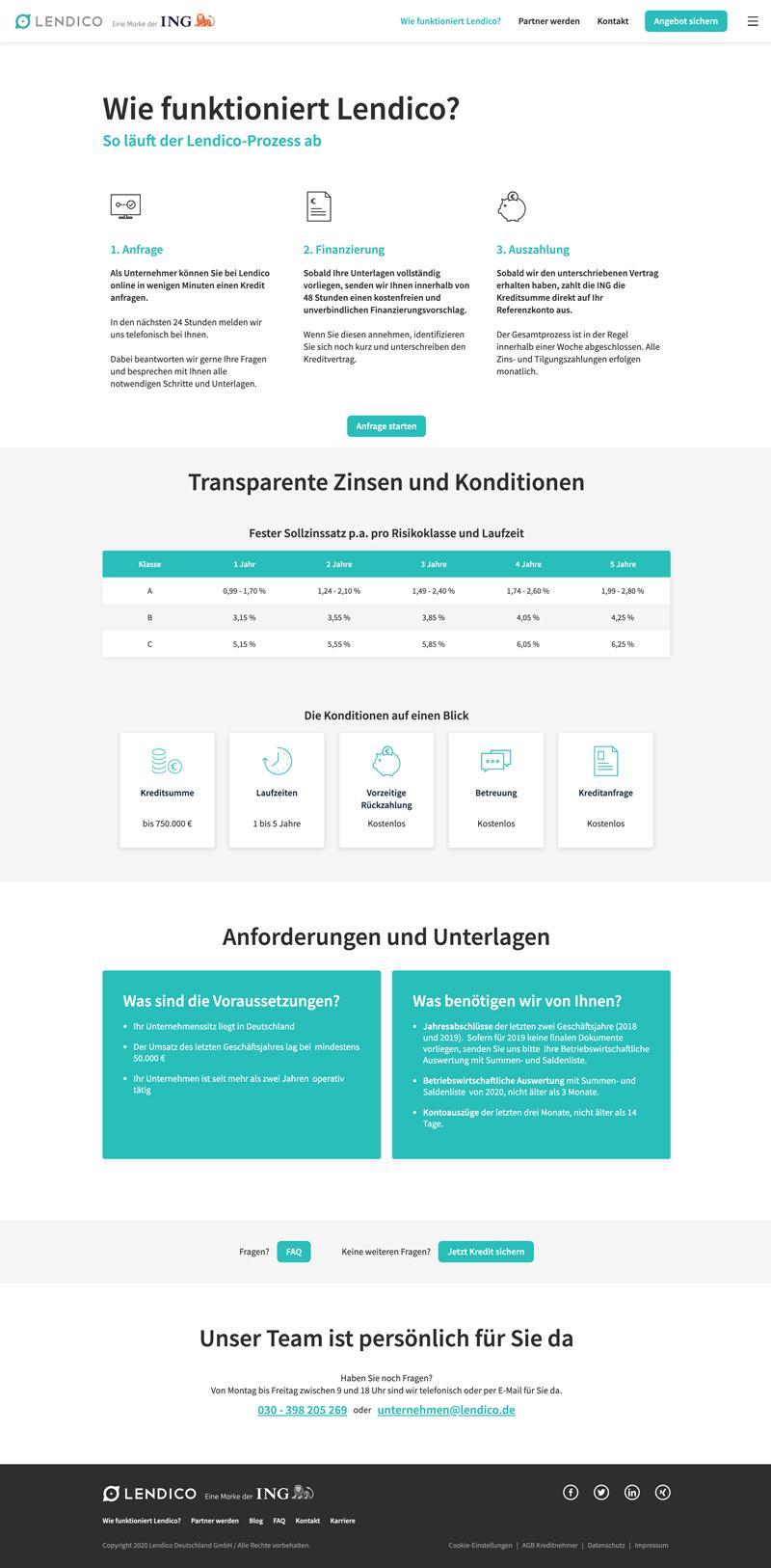 Wie funktioniert Lendico? - Desktop - lendico.de