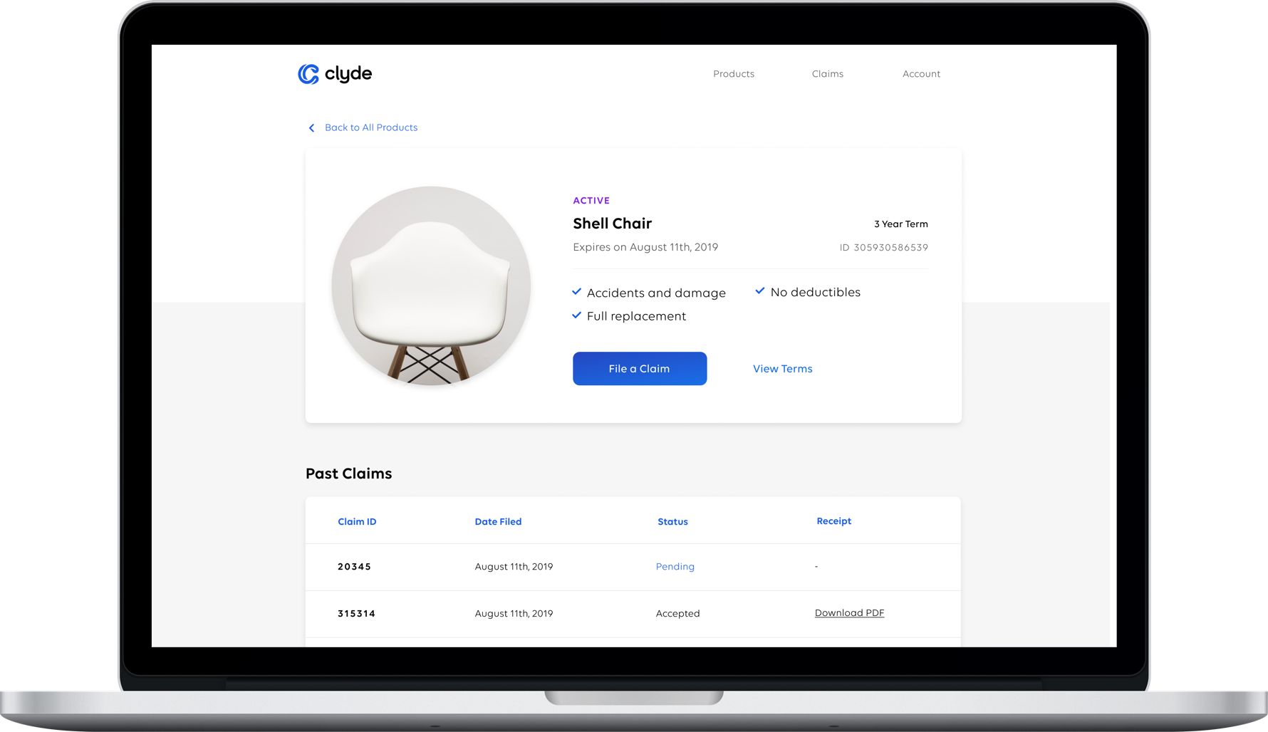 End Customer Product Page