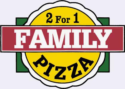 2 For 1 Family Pizza logo