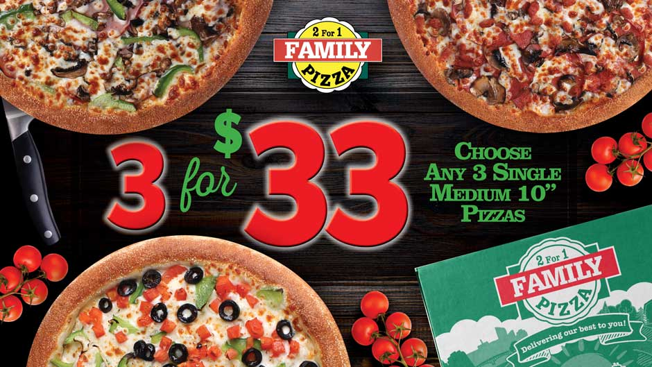 Pizza Places Open On Christmas.Family Pizza Always 2 For 1 And Free Delivery
