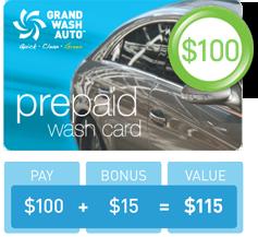 Prepaid Wash Card - $100