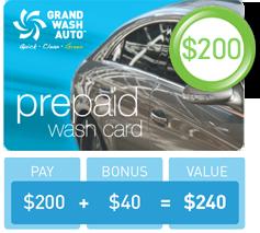 Prepaid Wash Card - $200
