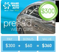 Prepaid Wash Card - $300