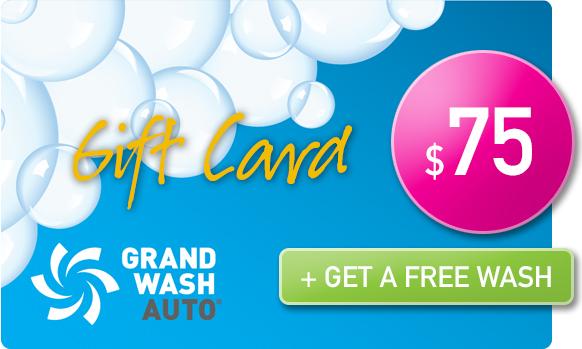 Gift Card -  Buy 1, get 1 FREE wash - $75