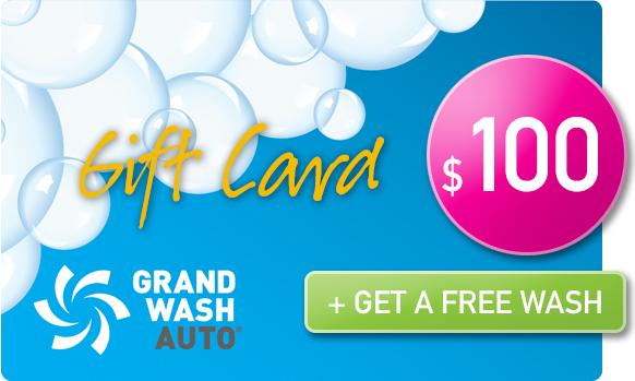Gift Card -  Buy 1, get 1 FREE wash - $100