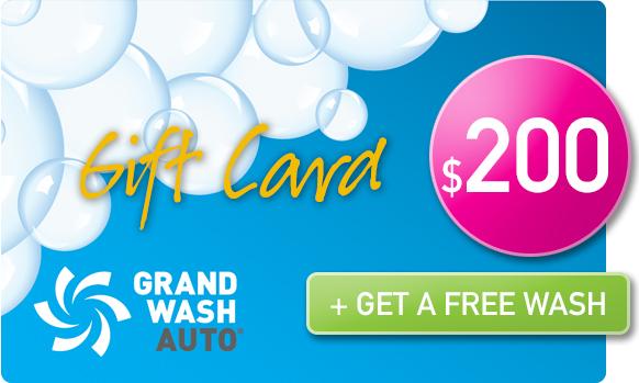 Gift Card Buy 1, get 1 FREE wash - $200