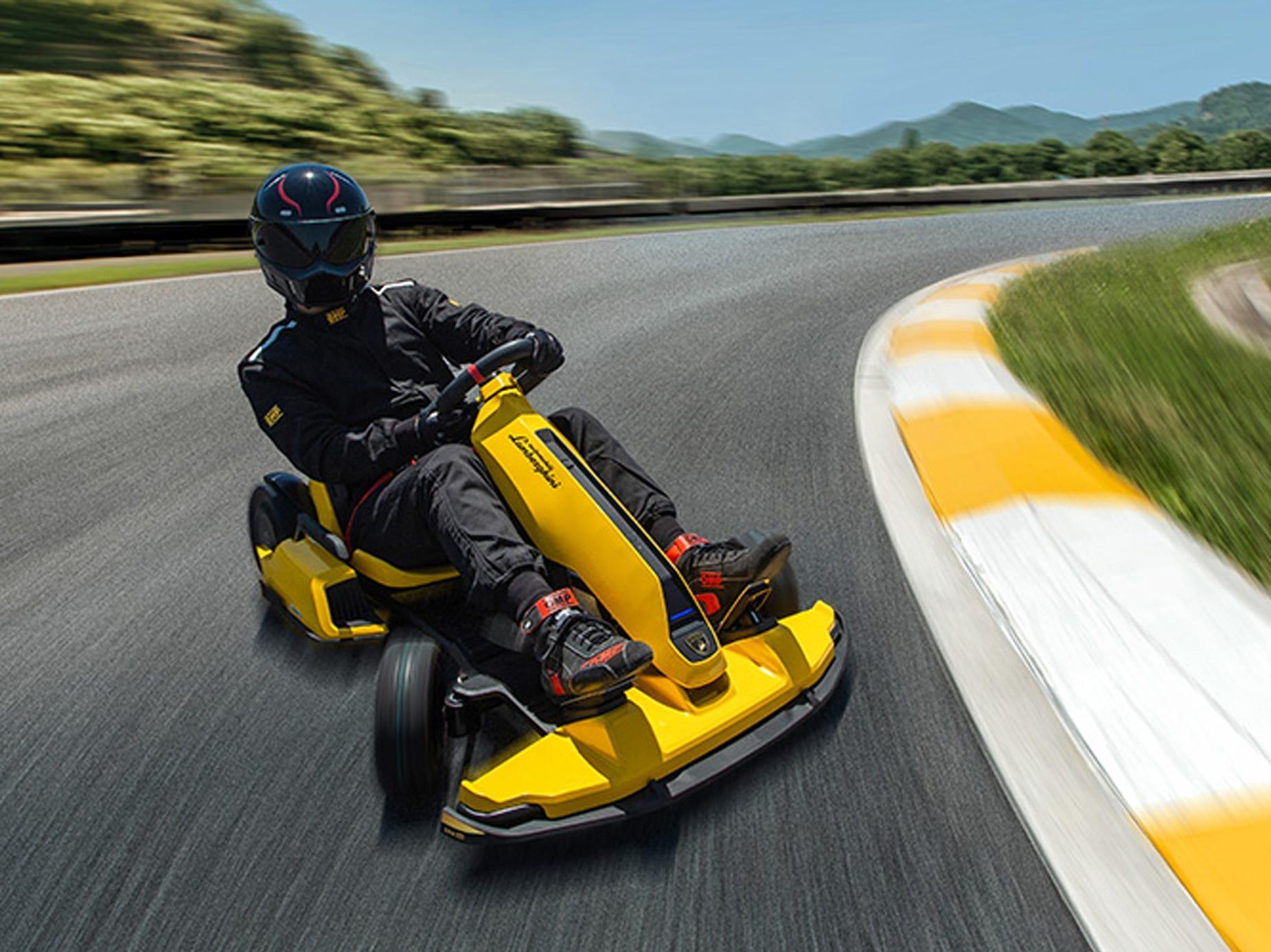 Lamborghini partnered with Segway to create a drifting electric go-kart