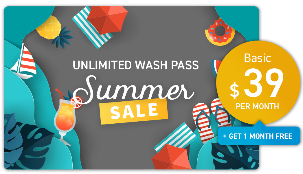 Unlimited Wash Pass Summer Promotion - Basic