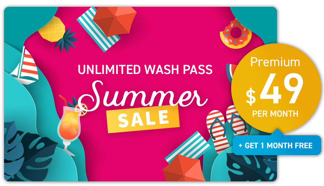 Unlimited Wash Pass Summer Promotion - Premium