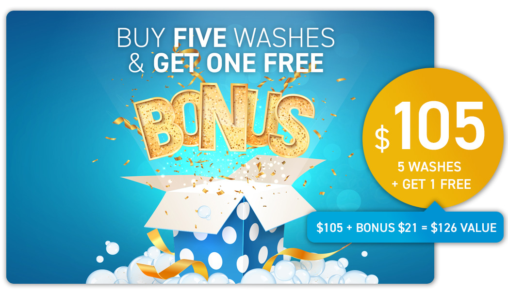 Wash Card Bonus Offer