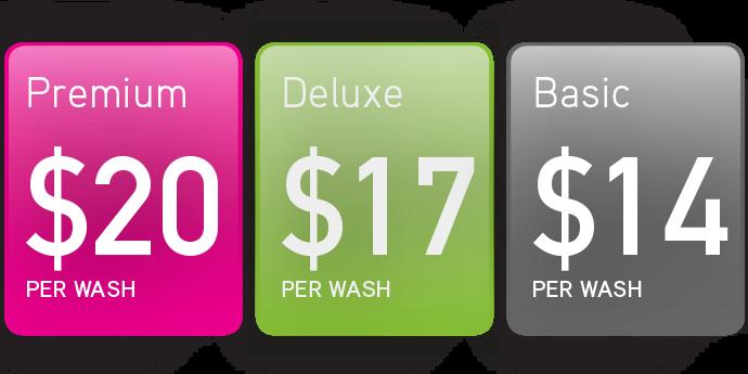 Grand Wash Auto - Pricing Table