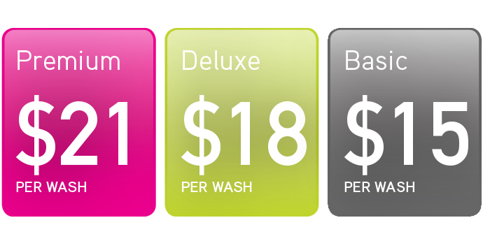Grand Wash Auto - Pricing Table