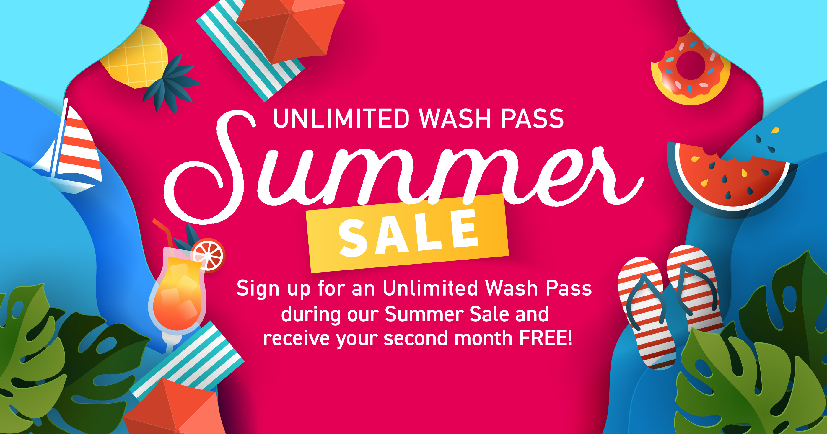 Unlimited Wash Pass - Summer Sale