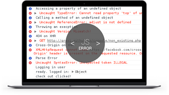 Usersnap - log all JavaScript errors