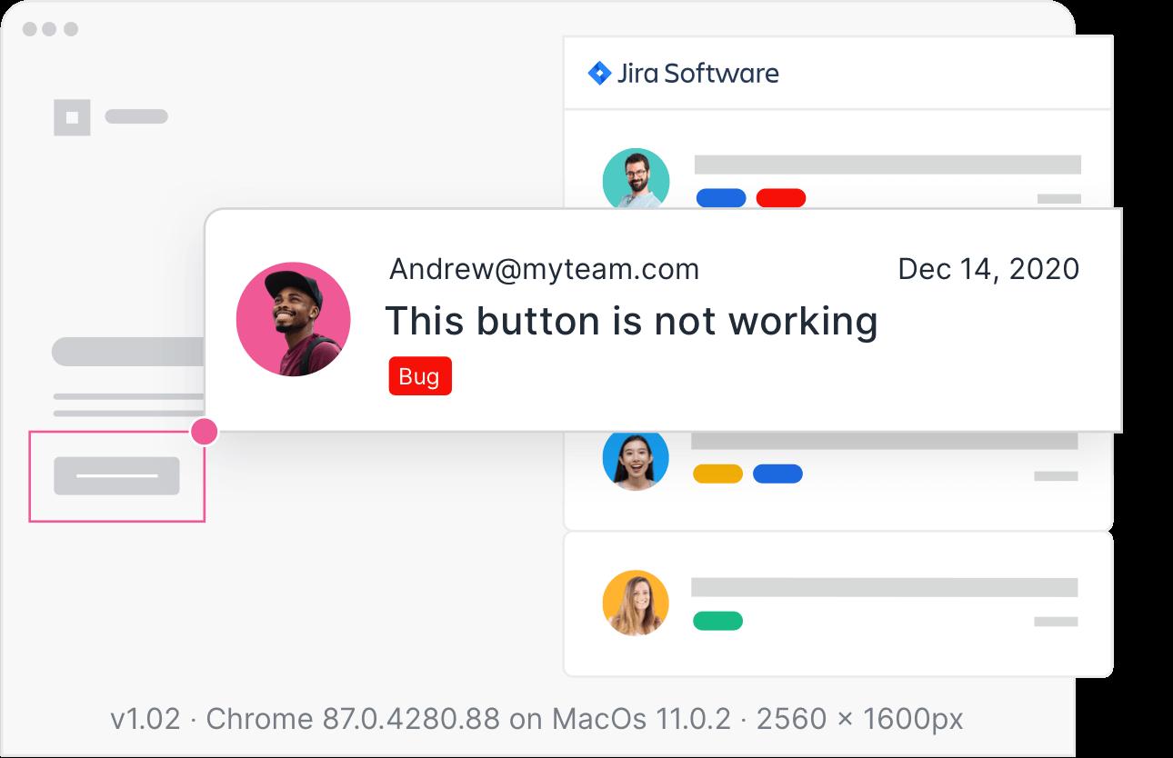 visual bug reporting