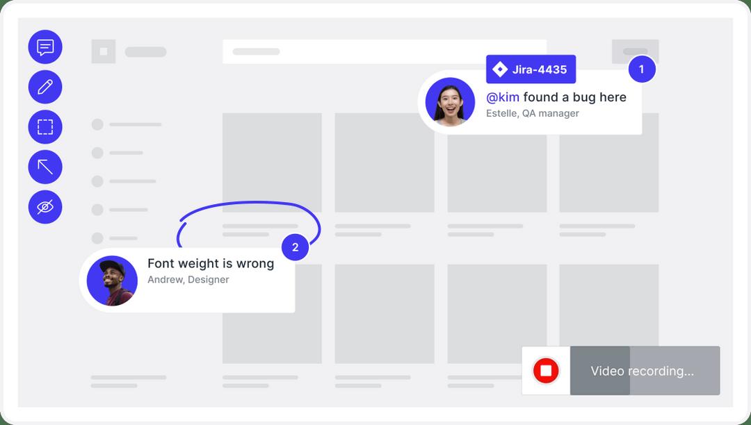 visual feedback for UAT