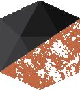 services hexagon icon rust