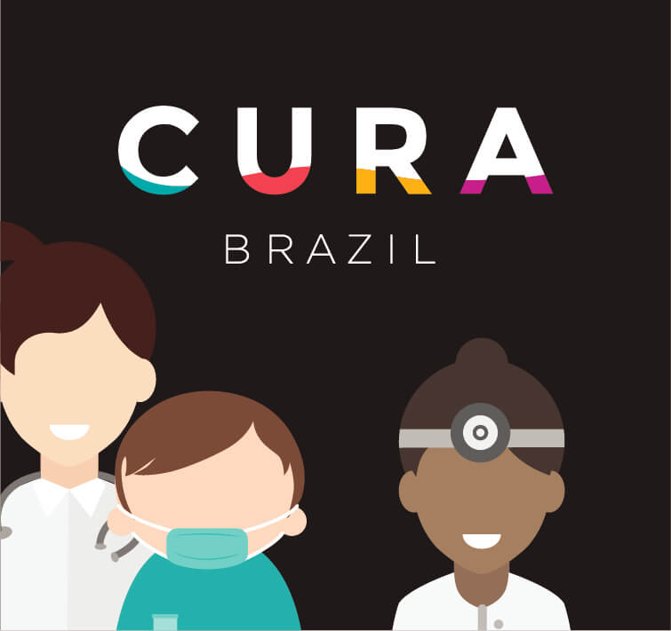CURA Brazil Logo and Illustration of people