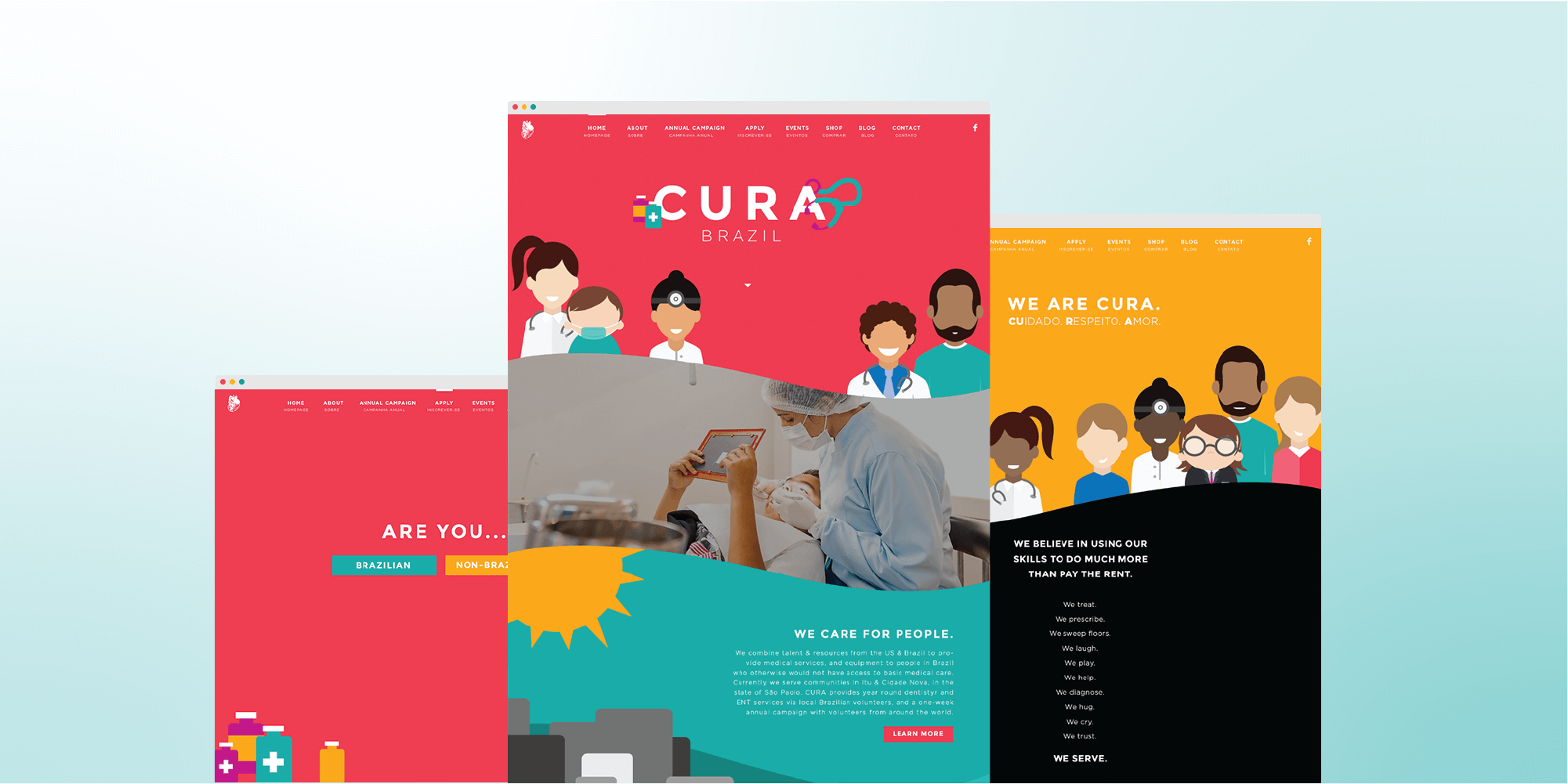 CURA Brazil website