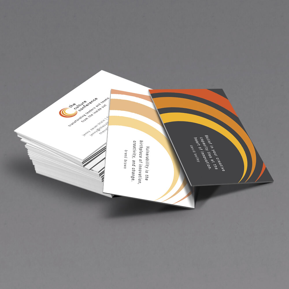 Culture Conference business cards
