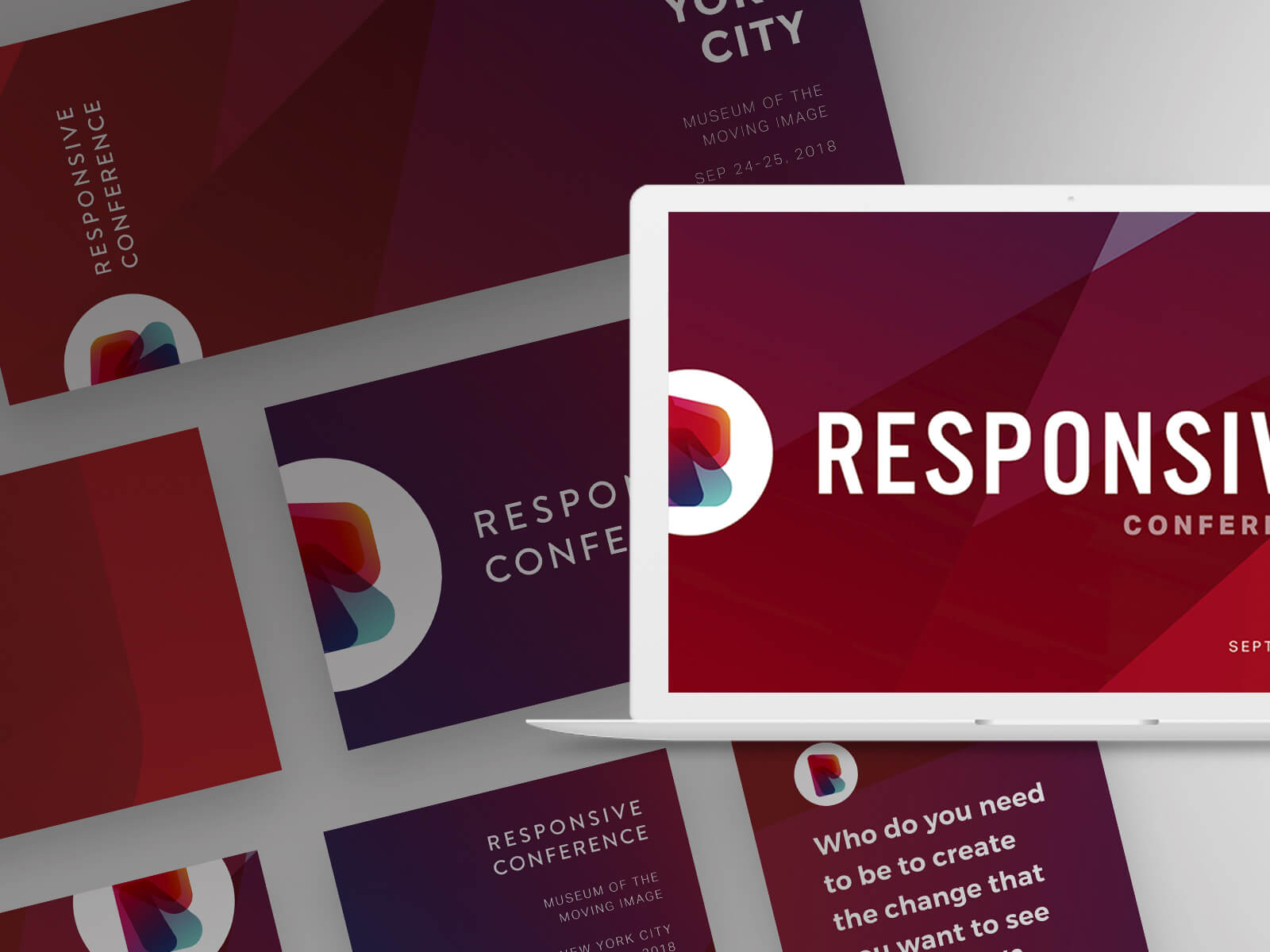 Responsive Conference Social Graphics and Screen Design