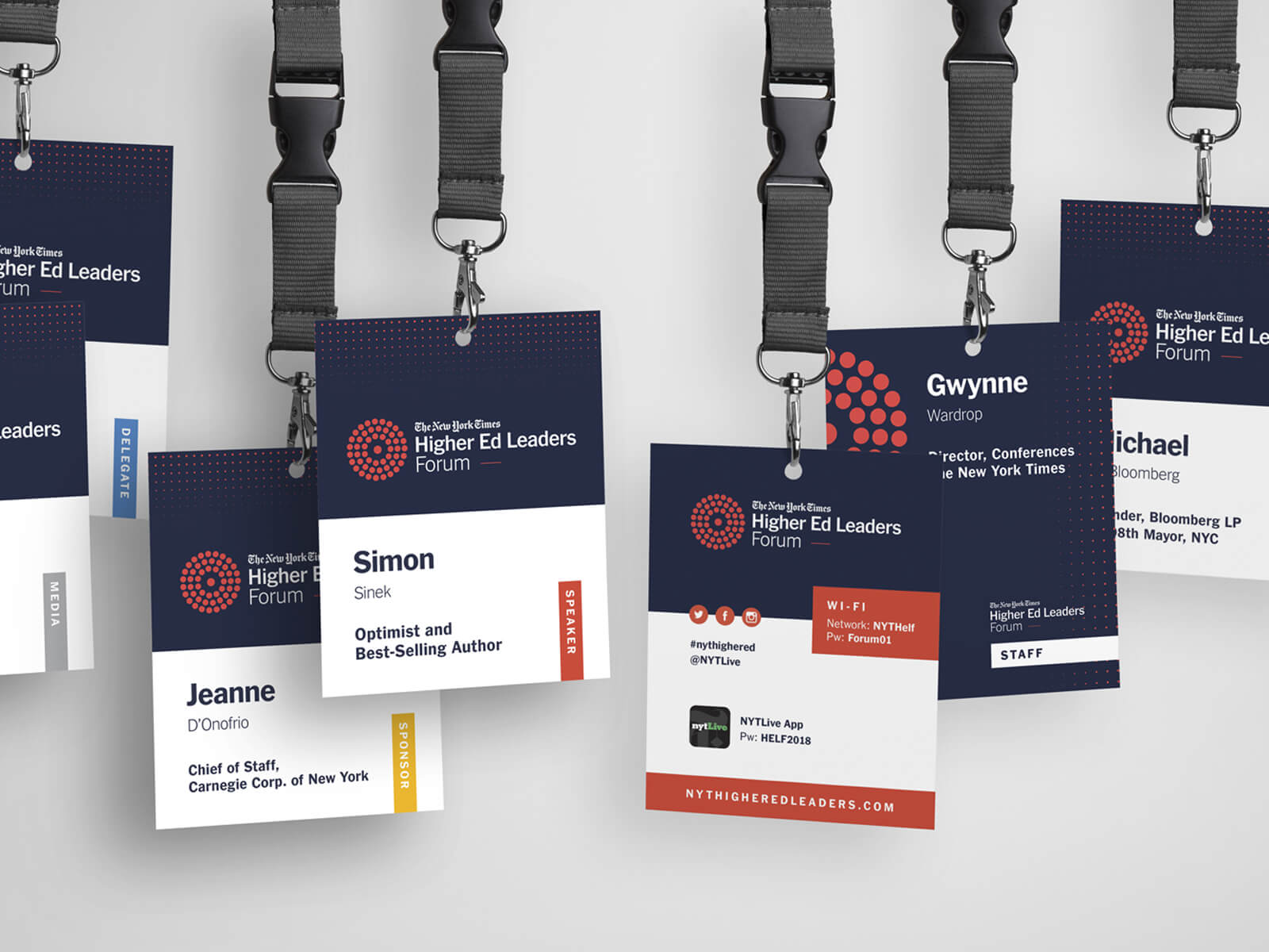 New York Times event credentials/badges