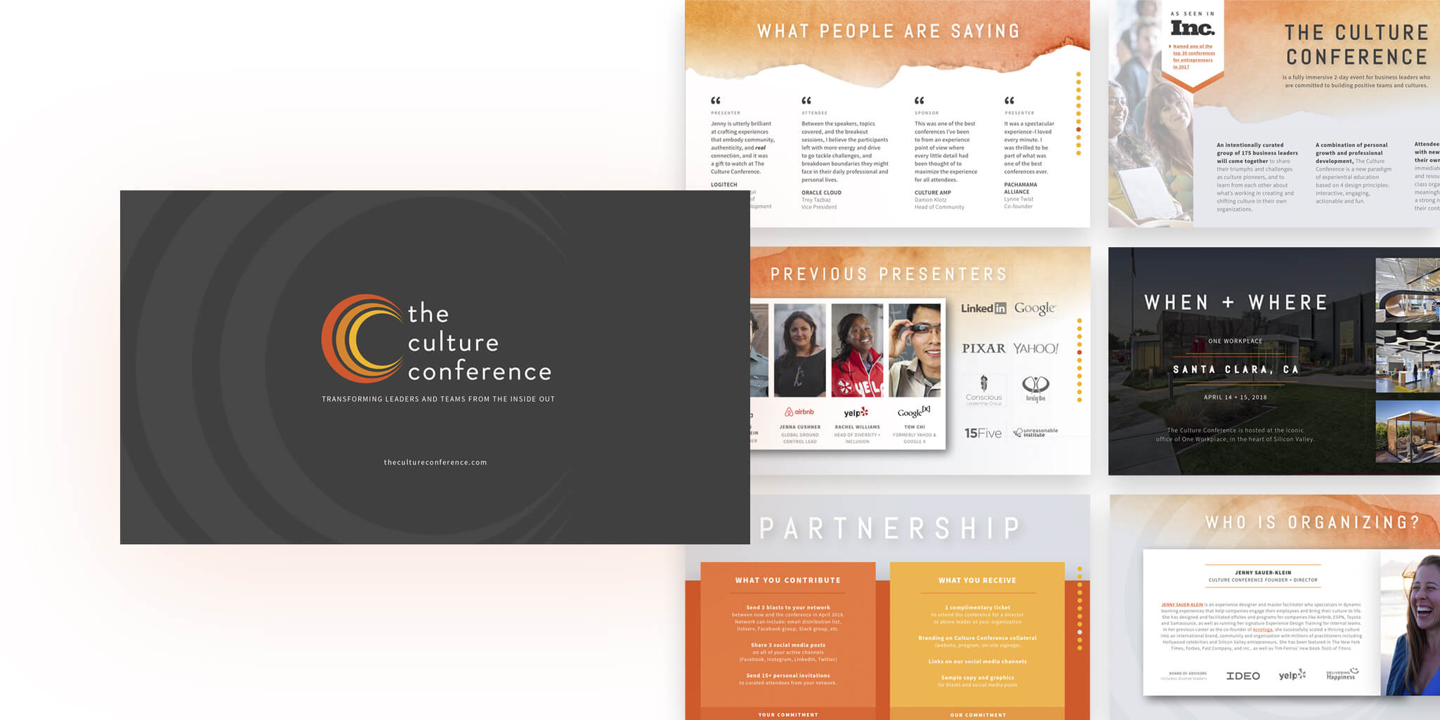 Culture Conference sponshorship deck