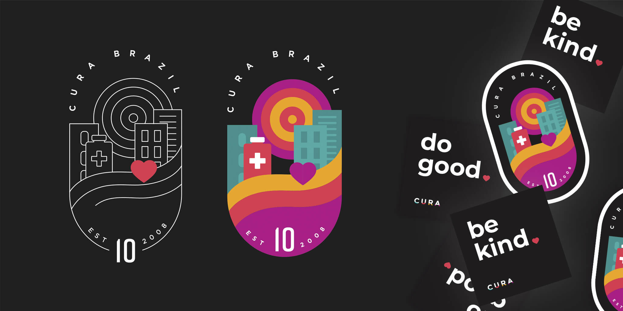 CURA Brazil badge illustration and stickers