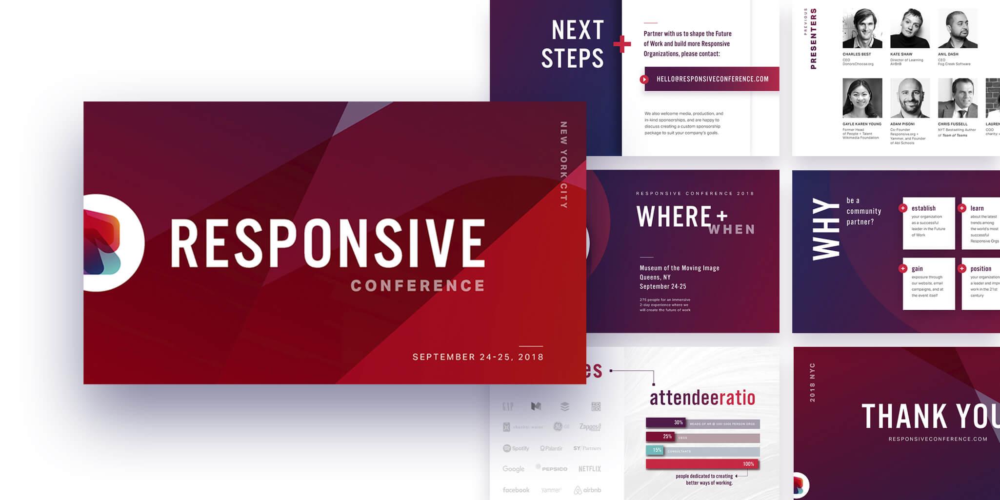 responsive conference partnership deck design