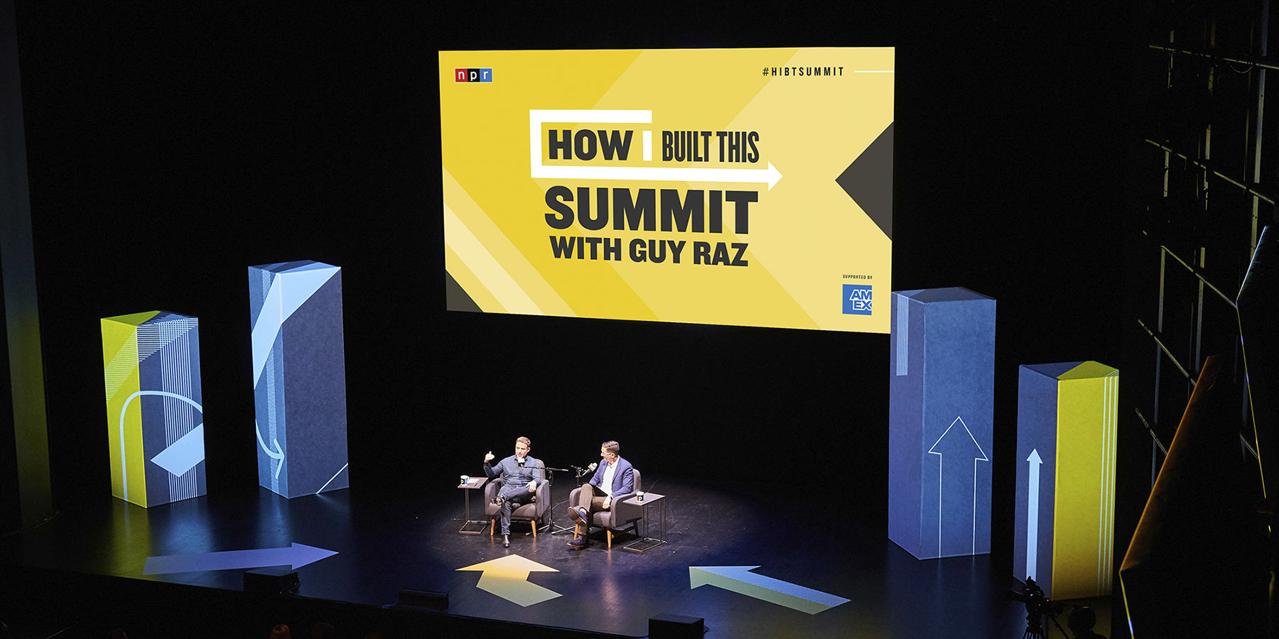 Main Stage at the 'How I Built This' Summit with Guy Raz