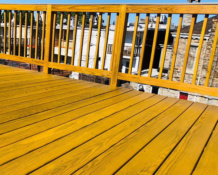 Decking after being restored by Black Diamond Pressure Washing