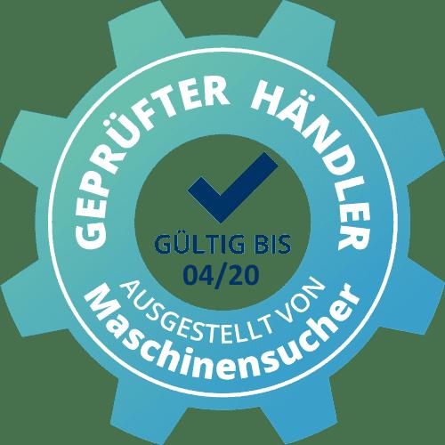 Zertifikat Maschinensucher für geprüfte Händler