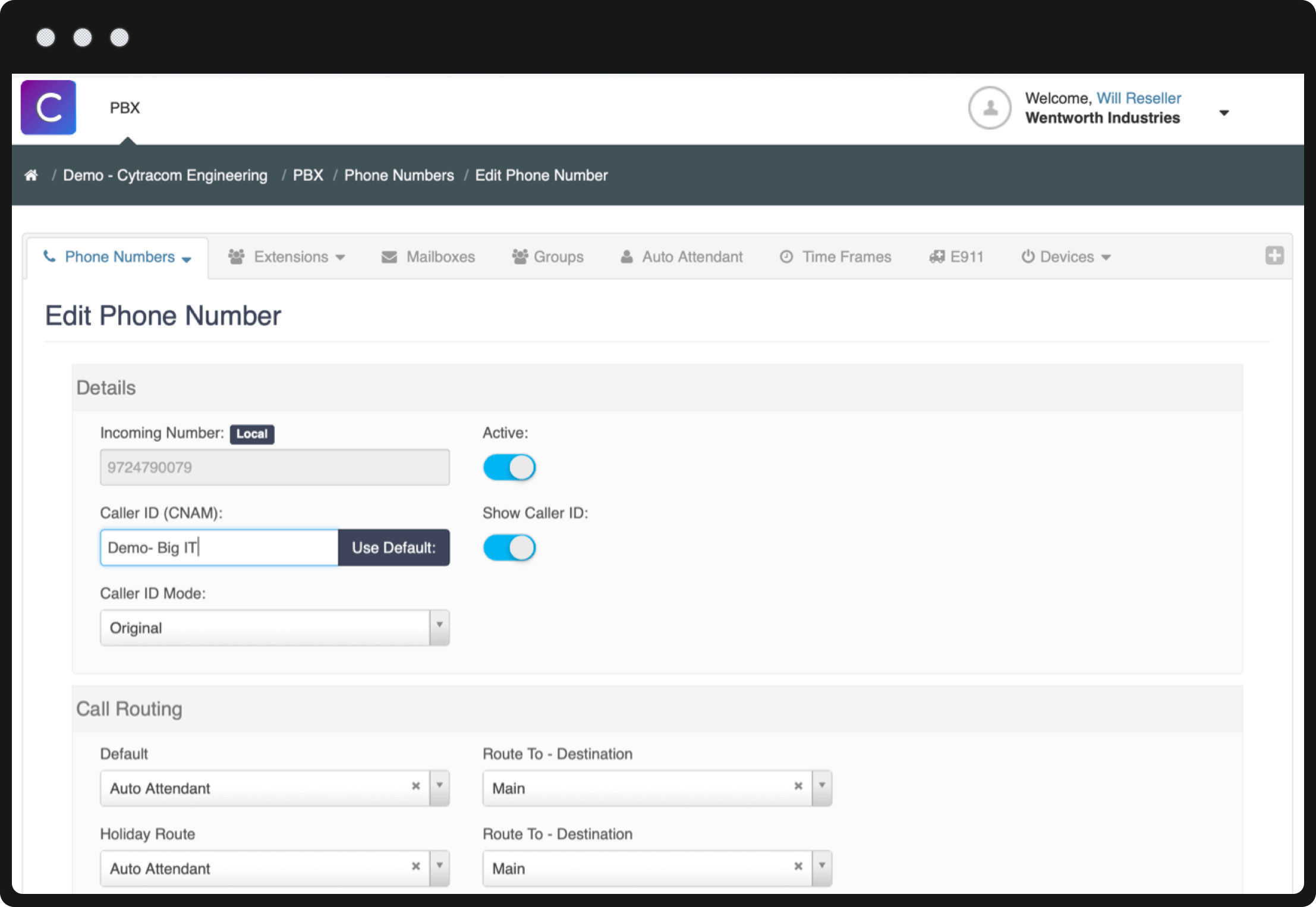 Cytracom Centralized Management Portal