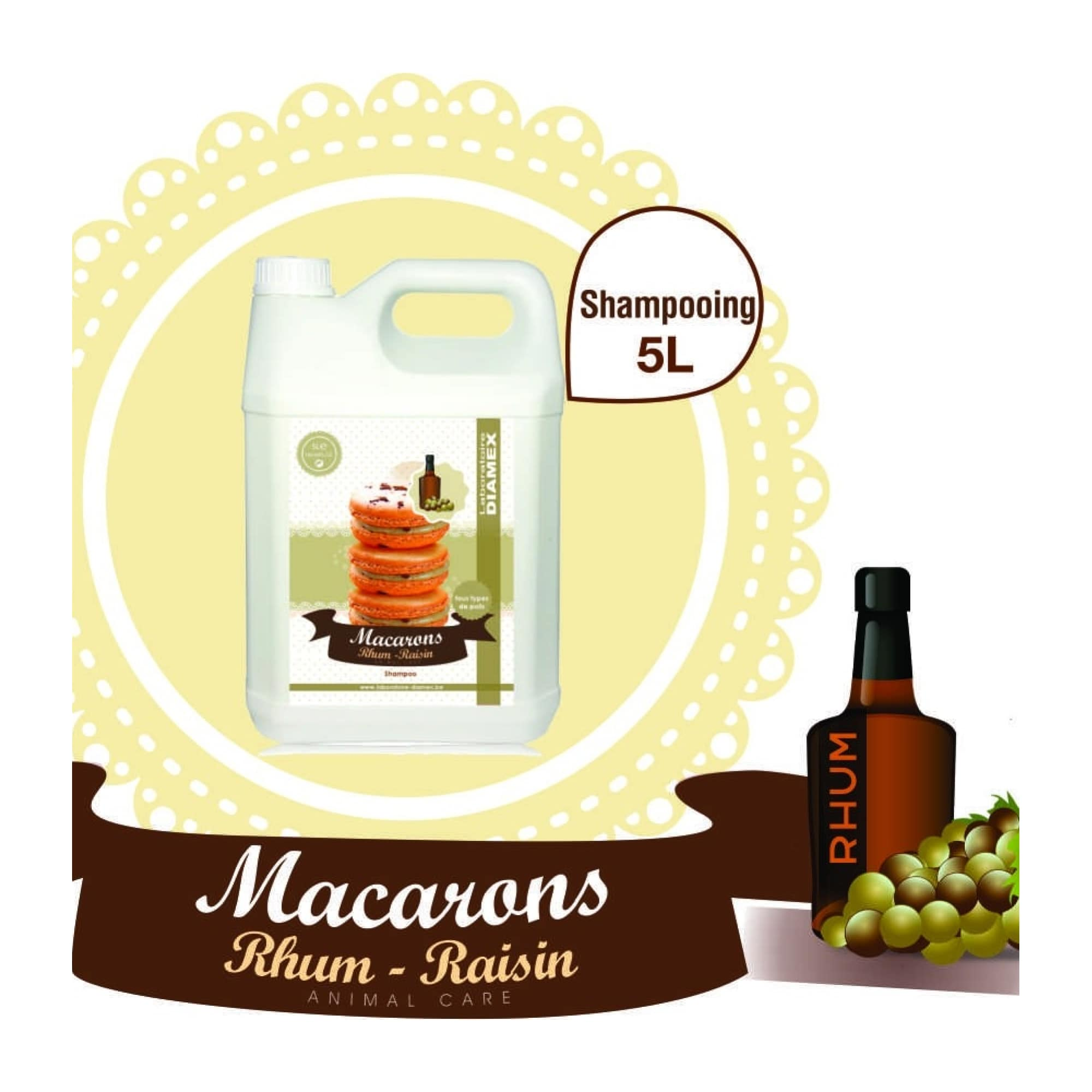 Shampooing Diamex macarons rhum-raisin