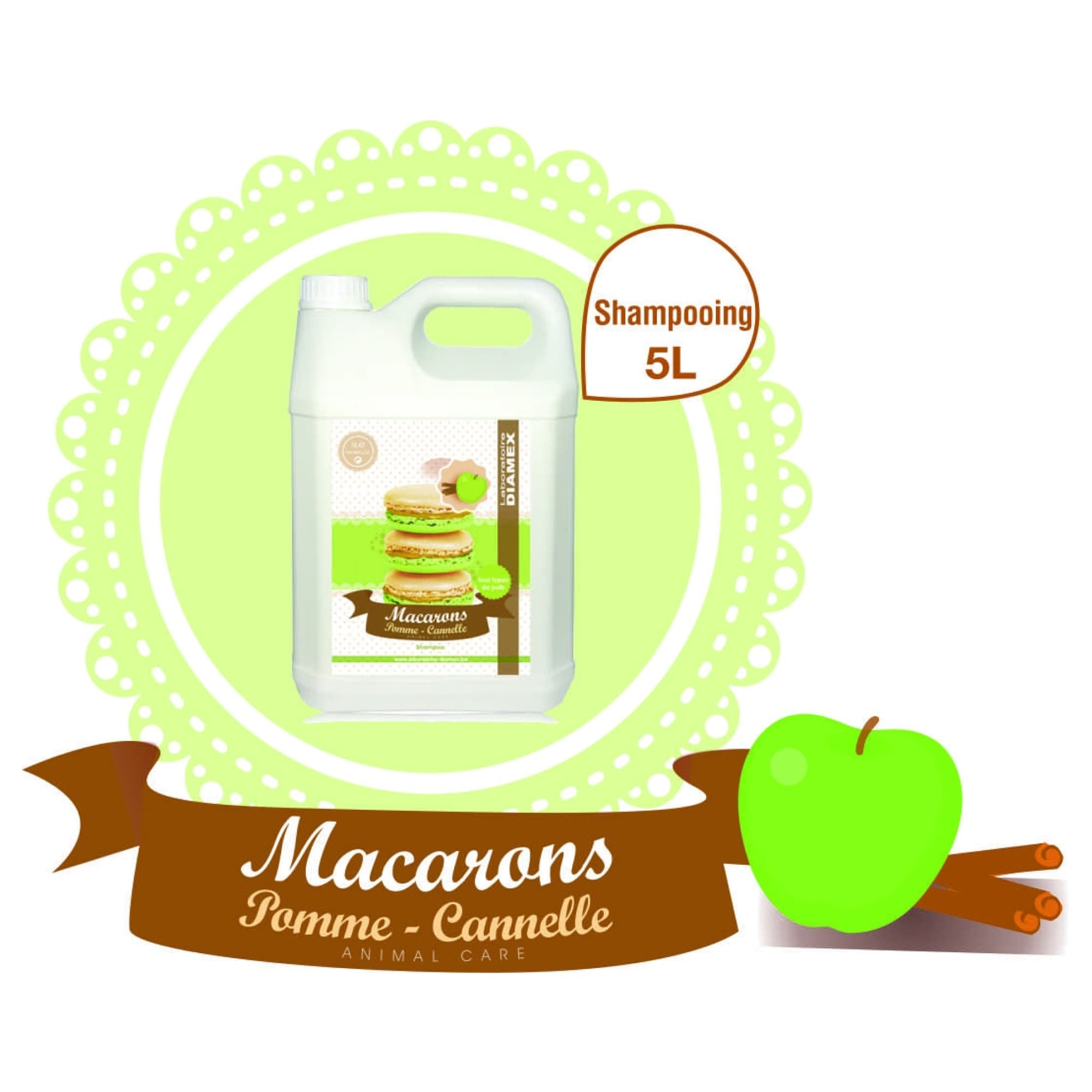 Shampooing Diamex macarons pomme-cannelle