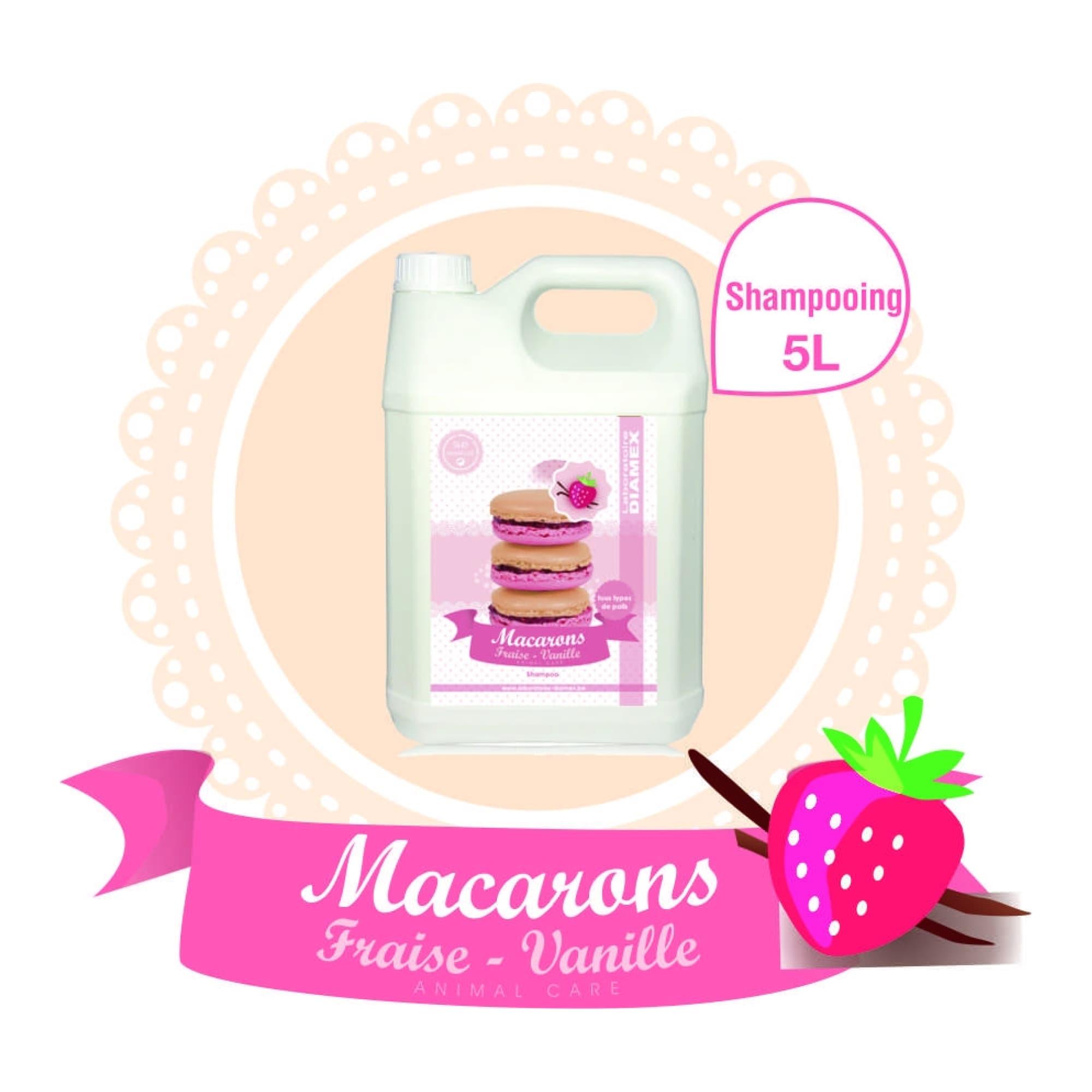 Shampooing Diamex macarons fraise-vanille