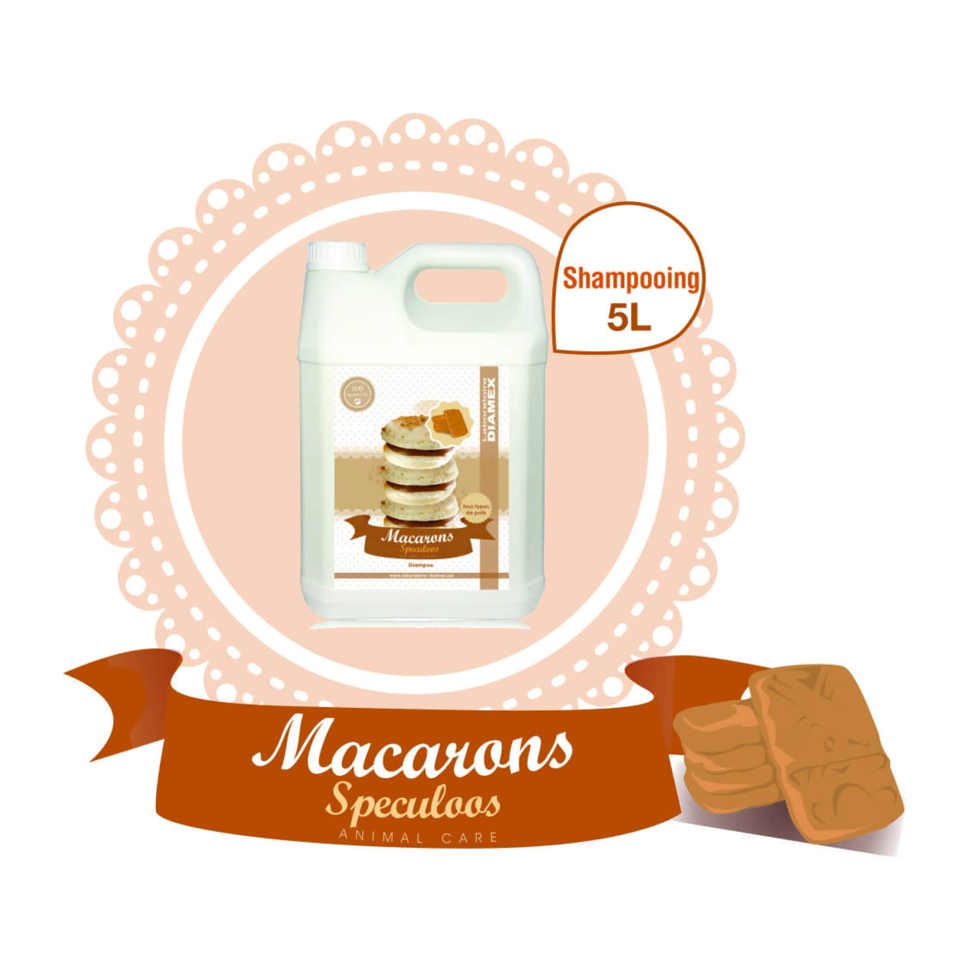Shampooing Diamex macarons speculoos