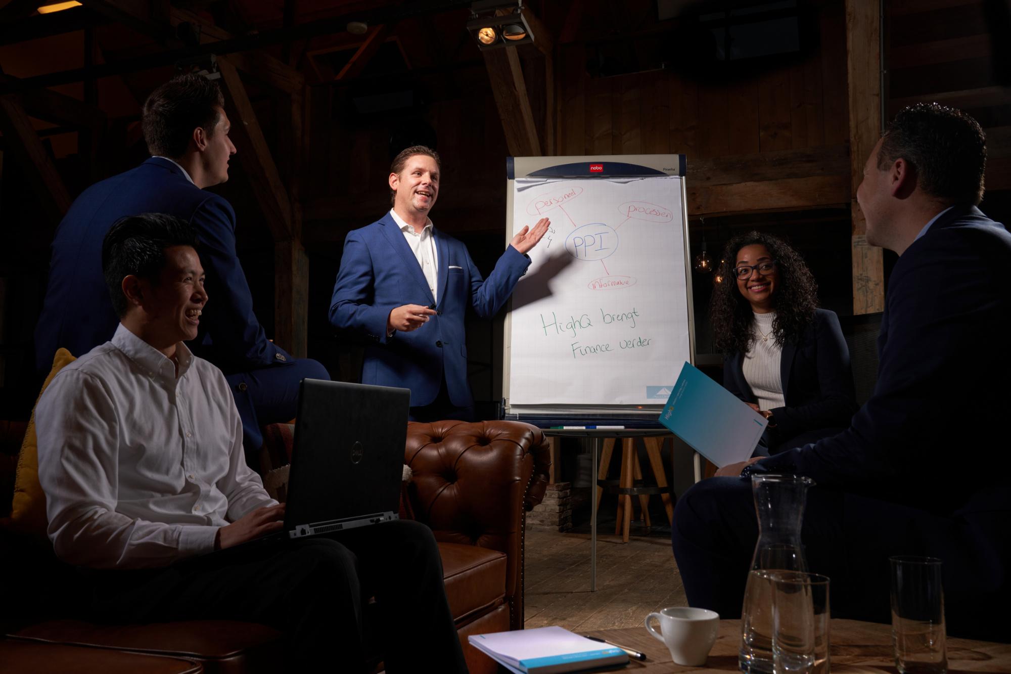 Om je organisatie aan te sturen, heb je actuele en betrouwbare informatie nodig. Je wilt in één oogopslag zien waar het goed gaat en waar het beter kan. HighQ zorgt voor heldere en bruikbare managementinformatie. Zodat je uit de enorme hoeveelheid data precies de goede inzichten op tafel krijgt.