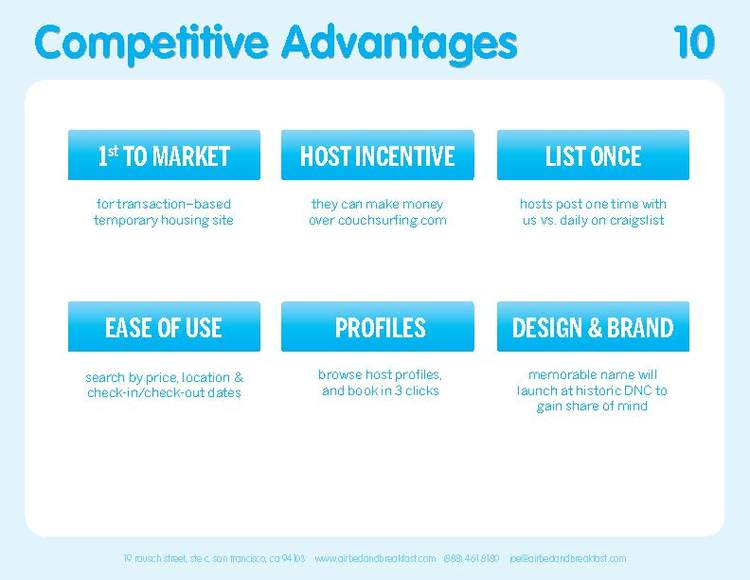 Original 2009 Competitive Advantages Slide