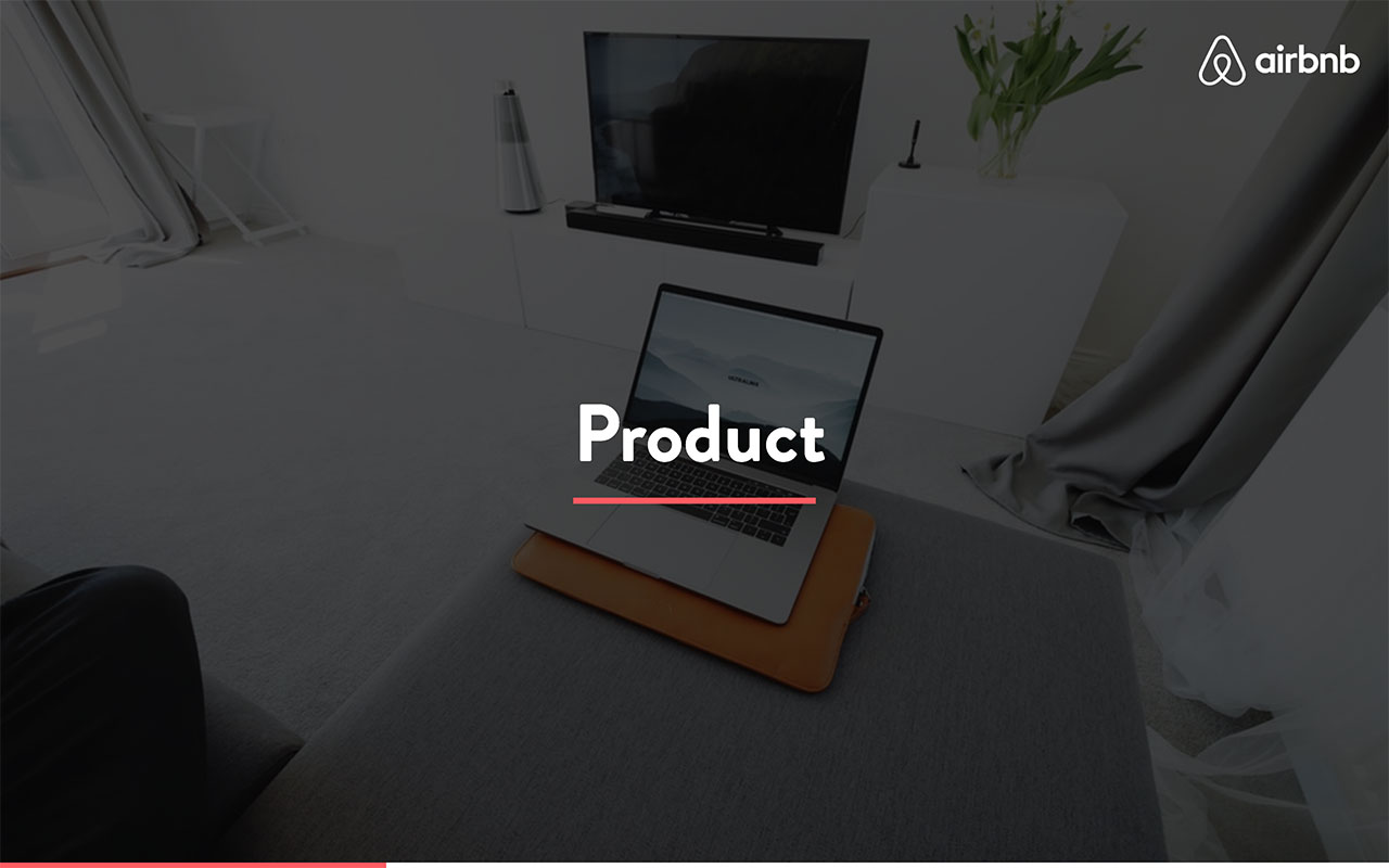airbnb pitch deck - product slide 1
