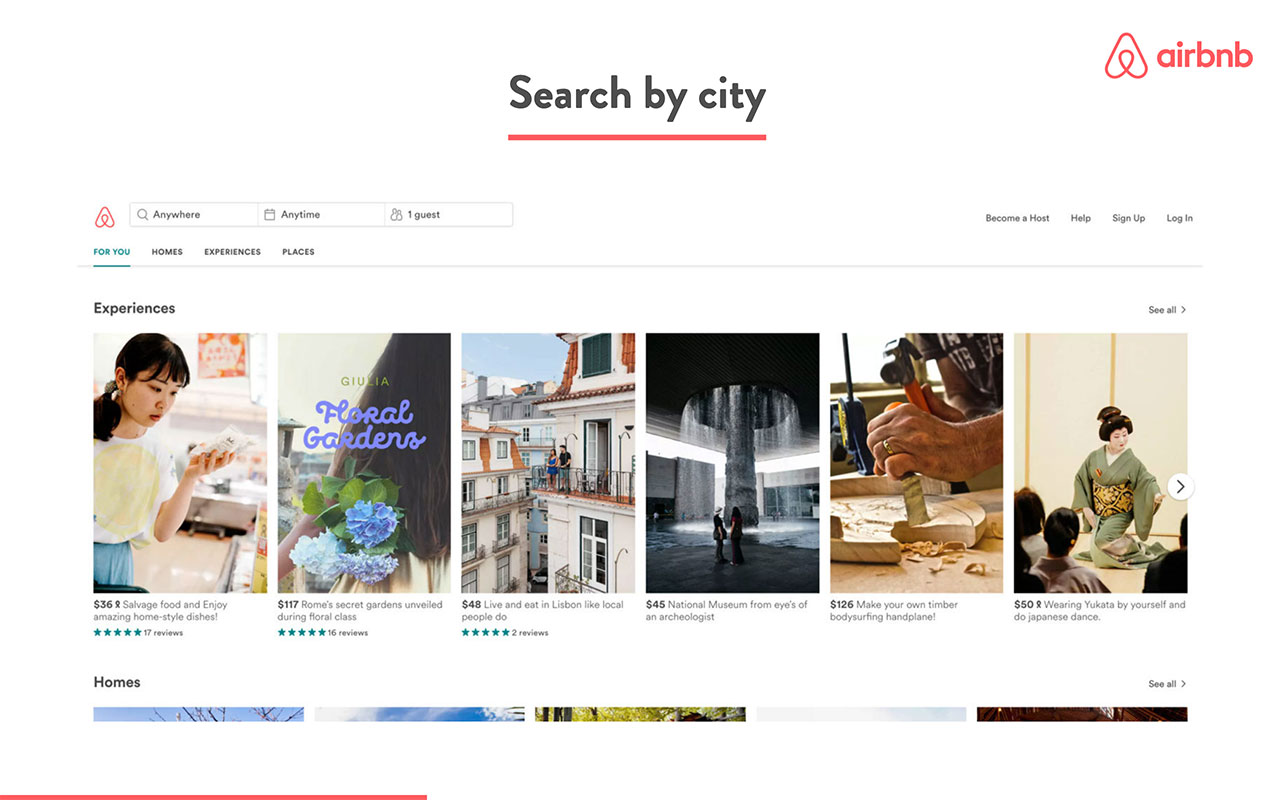 airbnb pitch deck - product slide 2